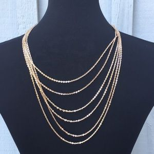 💕 FREE SHIPPING 💕Multi Strand Rose Gold Necklace